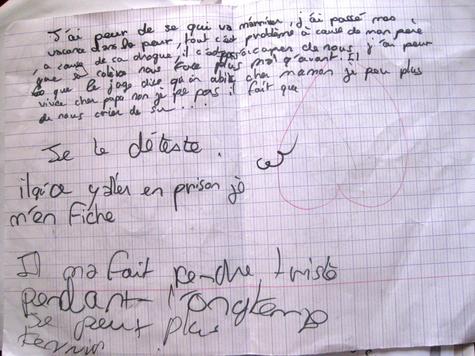 Crits des enfants journal de bord d une mere desemparee for Chambre de punition