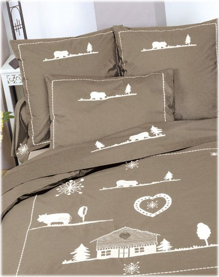 linge de lit chalet du lac par tradition des vosges vie d 39 etoffe. Black Bedroom Furniture Sets. Home Design Ideas