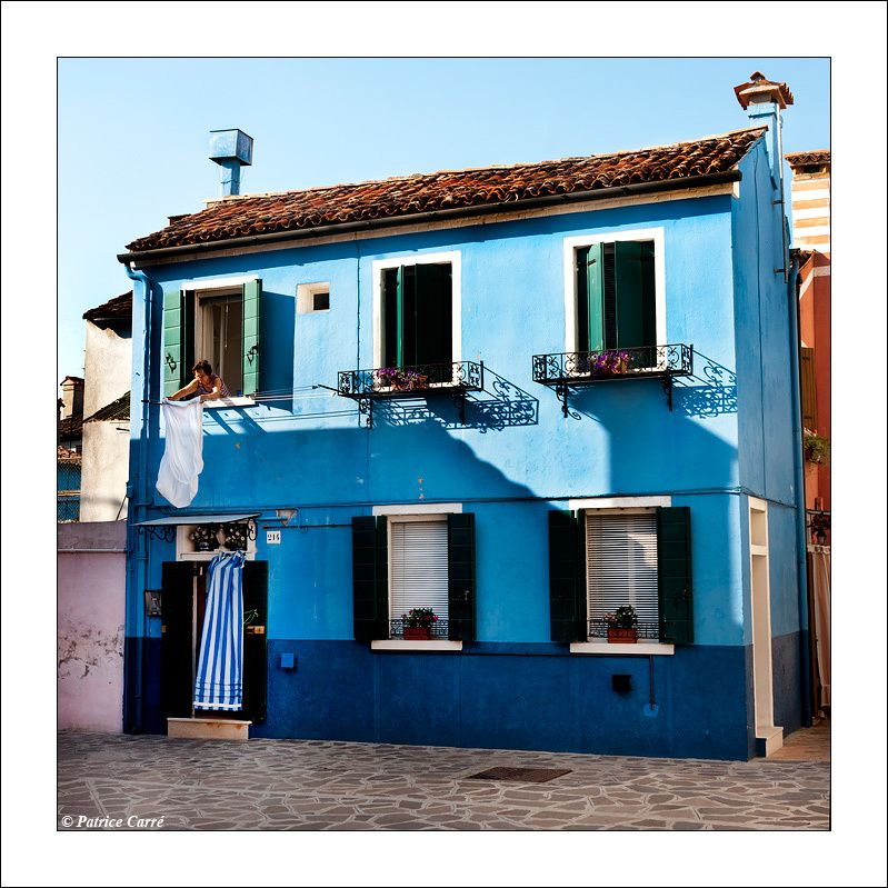 Le monde en couleur à Burano/ Colors and people in Burano