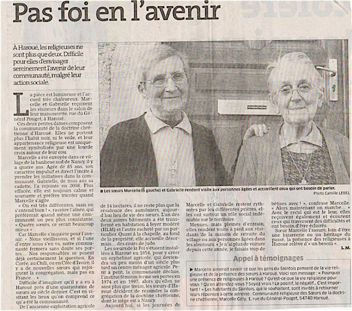 Haroué article