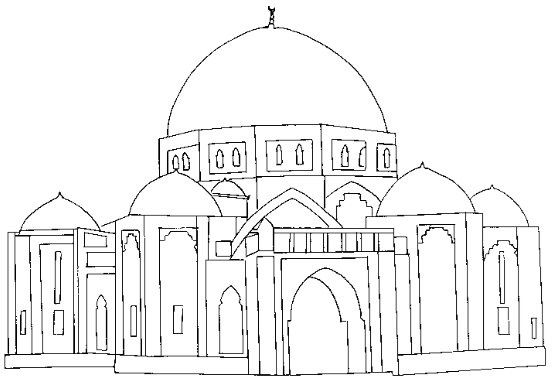 free mosque coloring pages - photo#13
