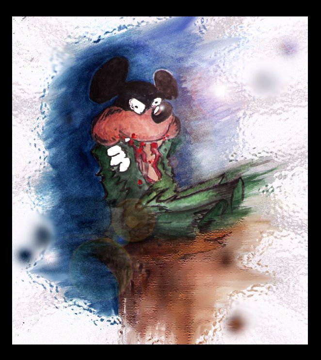 aquarelle mickey by bruno (after disney)