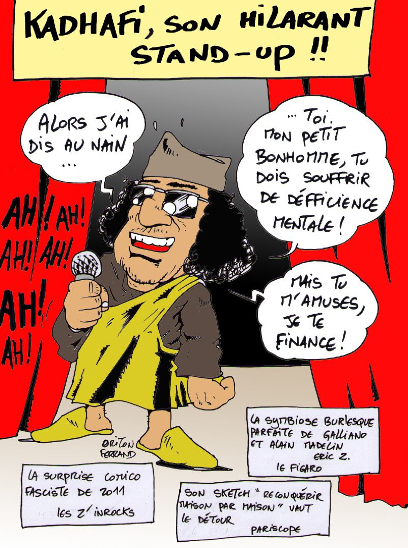 kadhafi roi du stand up