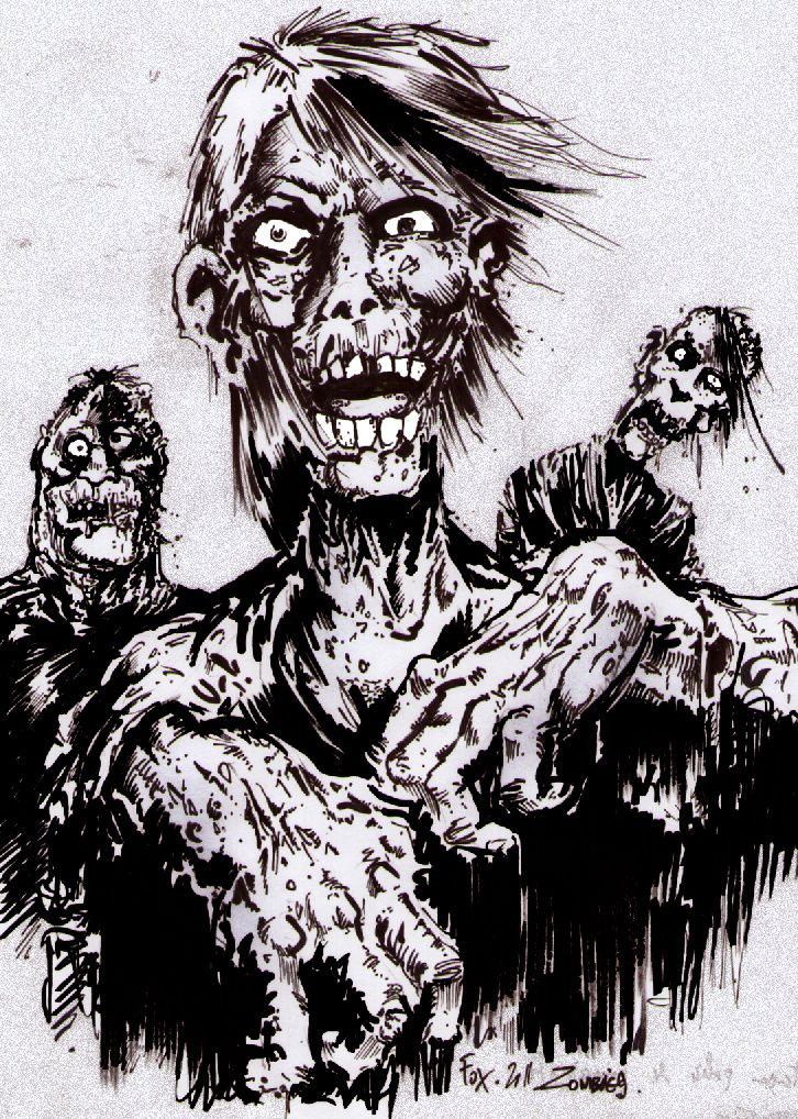 zombies (encre 30mn)