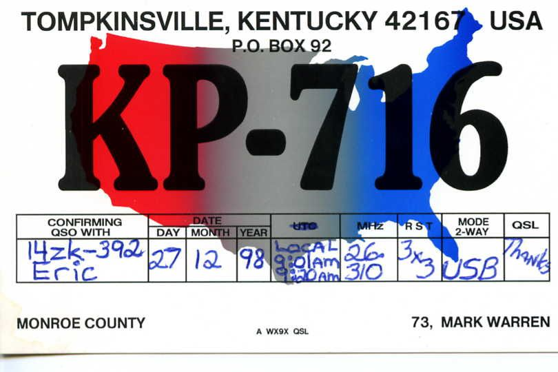 KP 716 Op. Mark Kentucky USA