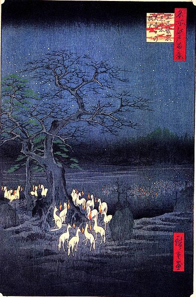 395px-Hiroshige-100-views-of-edo-fox-fires.jpg