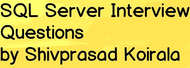 SQL Server Database Design Interview Questions  Server Interview Questions