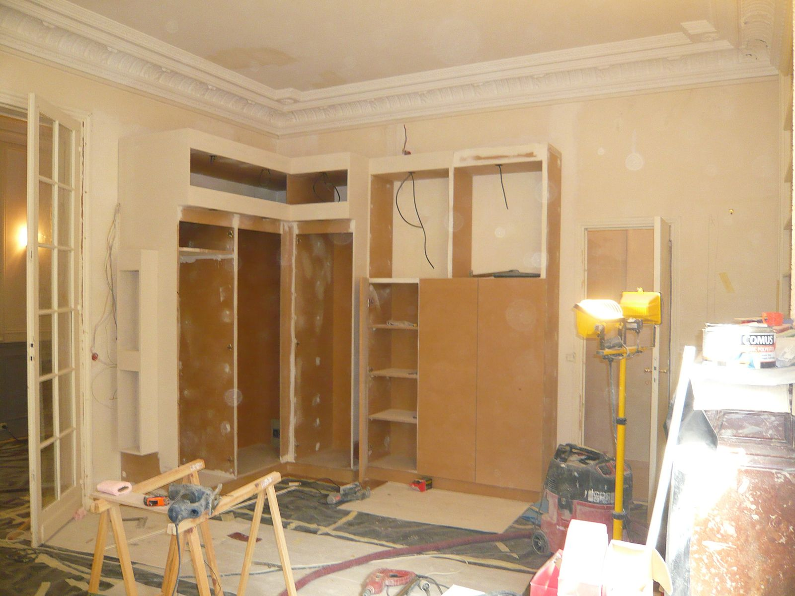 Album appartement haussmannien pendant les travaux le blog de marieclaire - Renovation appartement haussmannien ...