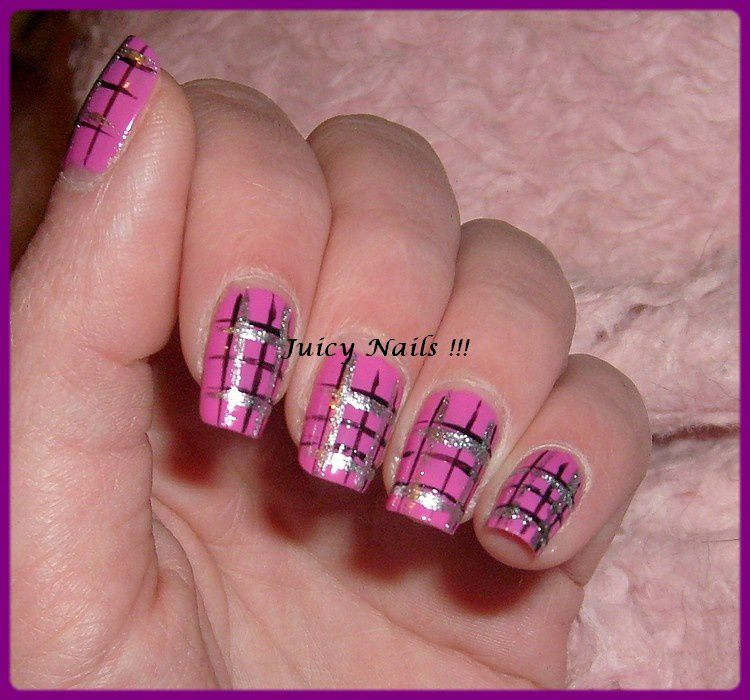 Nail art Kilt rose - Passion Nail Art