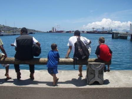 Papeete en attendant le Moorea ferry