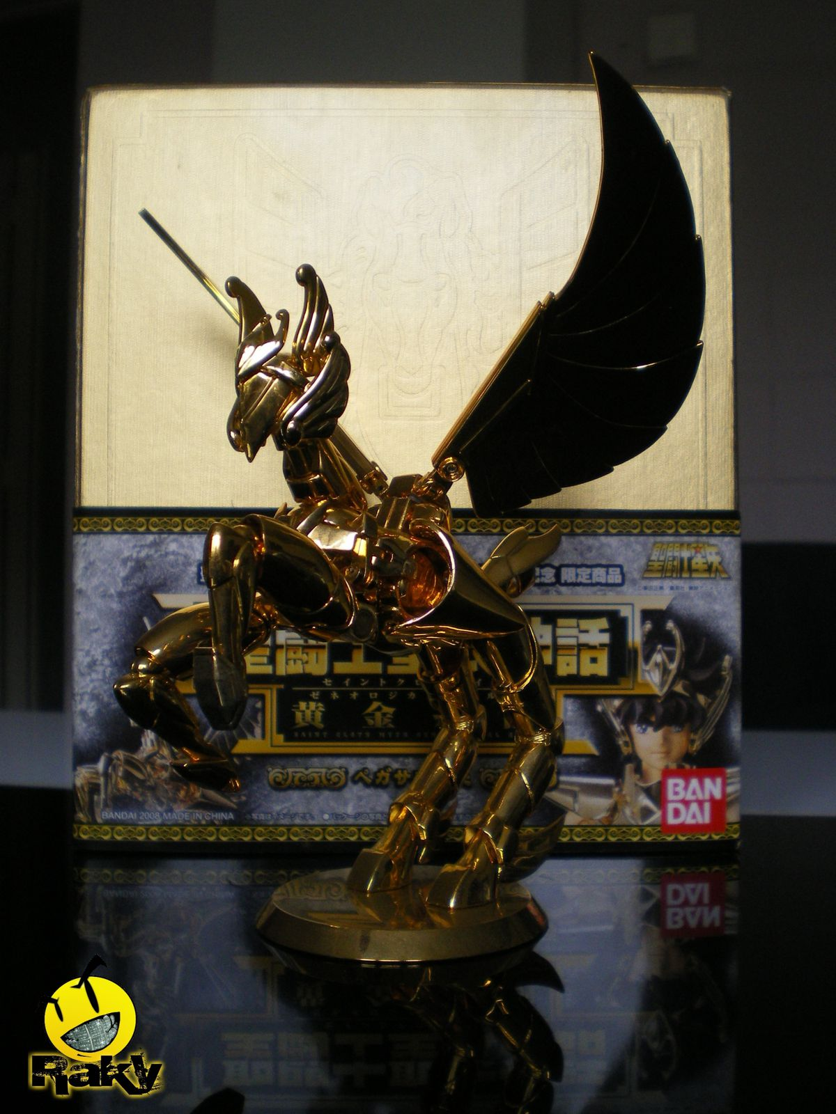 saint seiya myth cloth pegasus seiya v3 genealogical gold 24k by