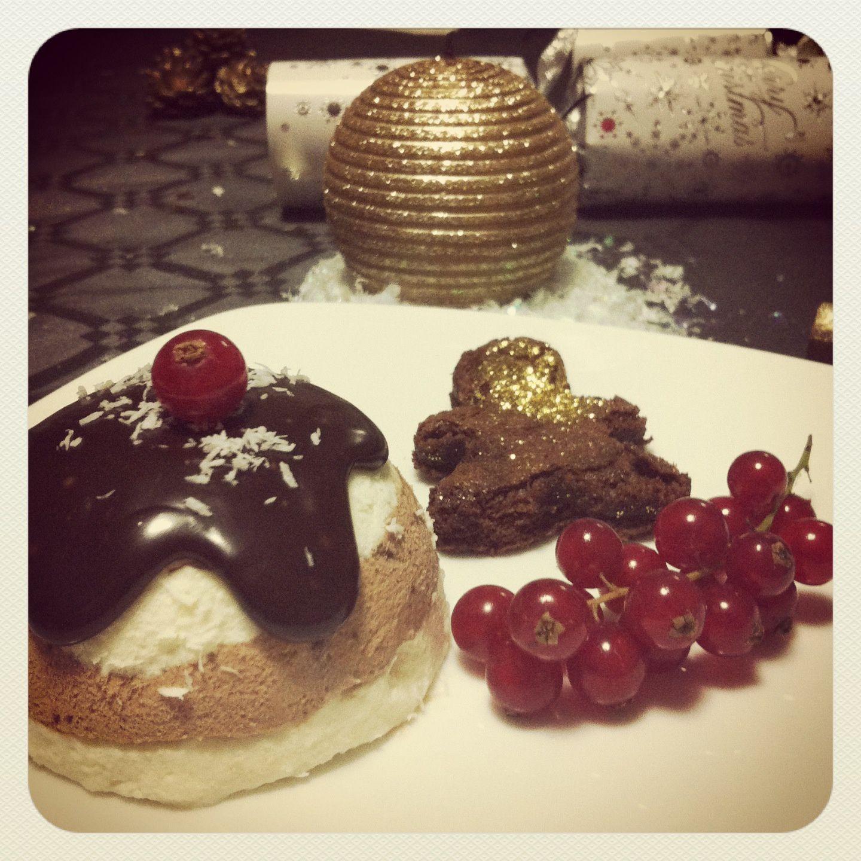 Mon dessert de no l mousse choco coco coeur cr me anglaise myam myam - Dessert de noel leger ...