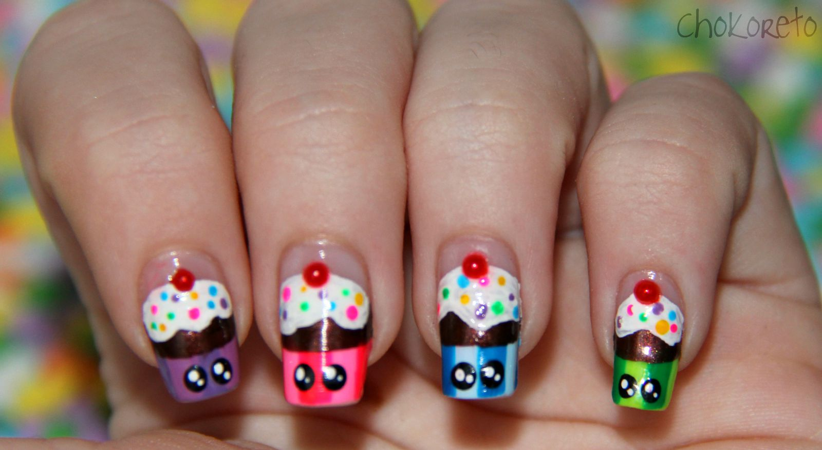 Nail art candies of the partiesholidays girly corset candy nail art3 2845 prinsesfo Image collections