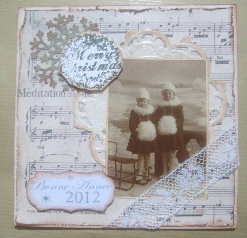carte vintage fillette 1