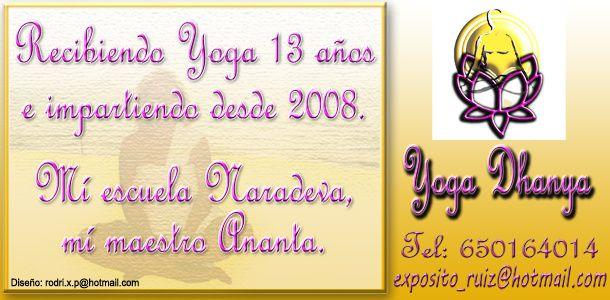 publicidad yoga Dhanya