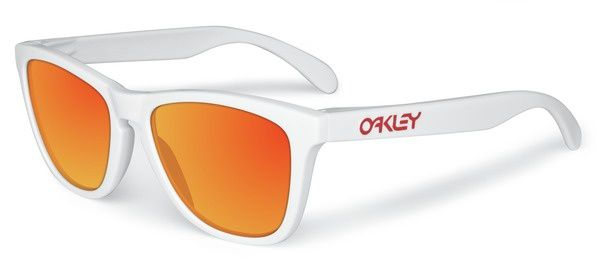 Frogskins- Polished White w Ruby Iridium 24-307 full