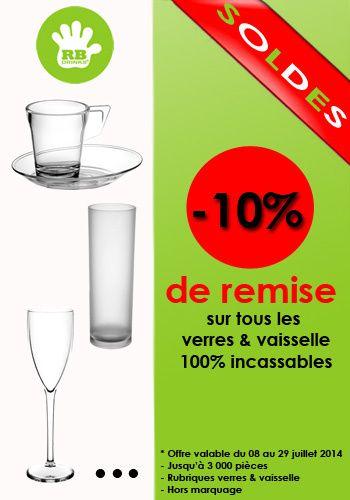 verre plastique et vaisselle plastique