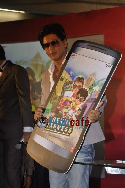 Shahrukh & Rohit Shetty at the game launch of 'Che-copie-1