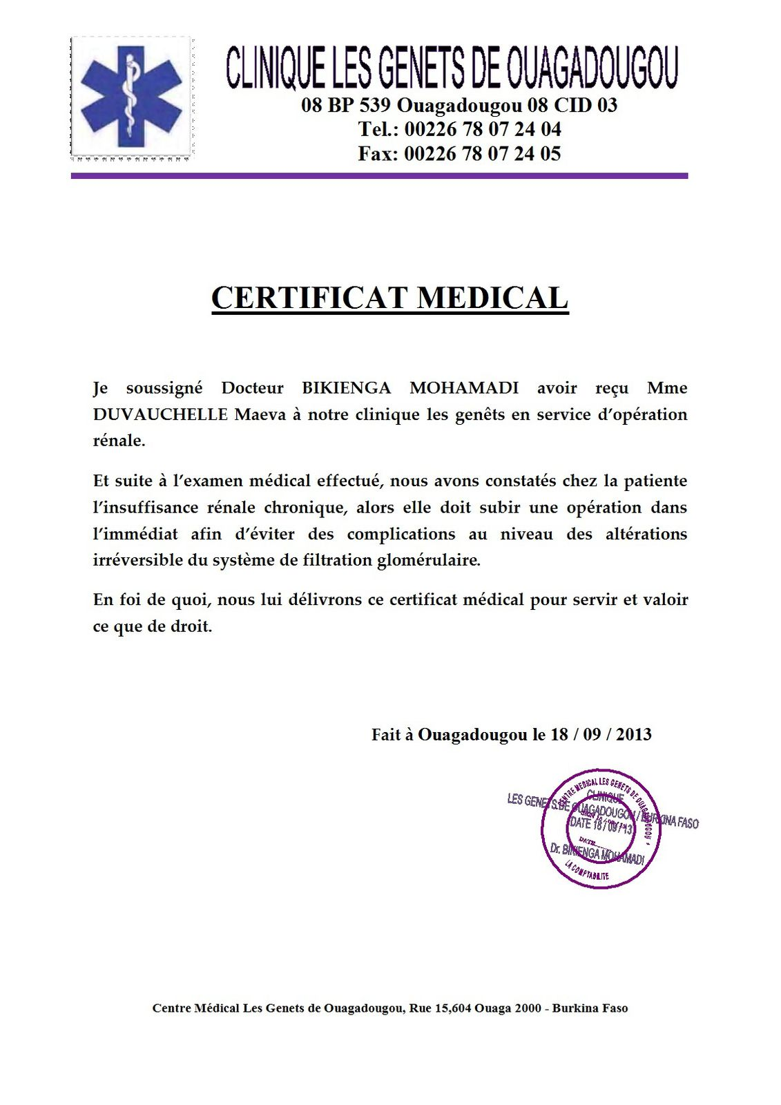 Modele certificat psychologique document online for Modele certificat de ramonage gratuit