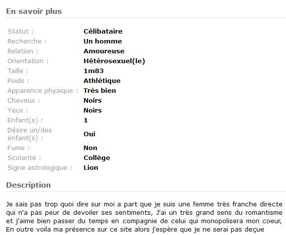 Photo de faux profil site de rencontre