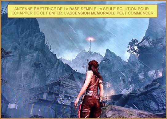Tomb Raider antenne de la base