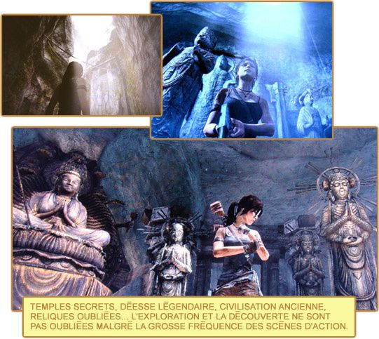 Tomb Raider statues temples