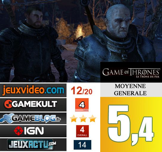 GAME OF THRONES avis et notes
