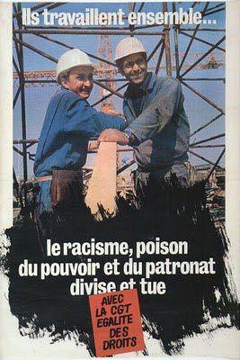 affiche cgt racisme poison du patronat