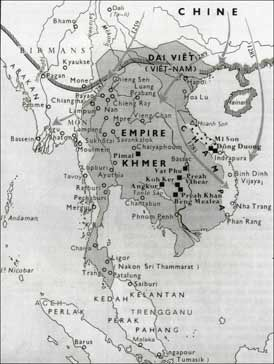 carte empire khmer