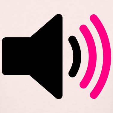light-pink-speaker-icon-women-s-t-shirts_design.png