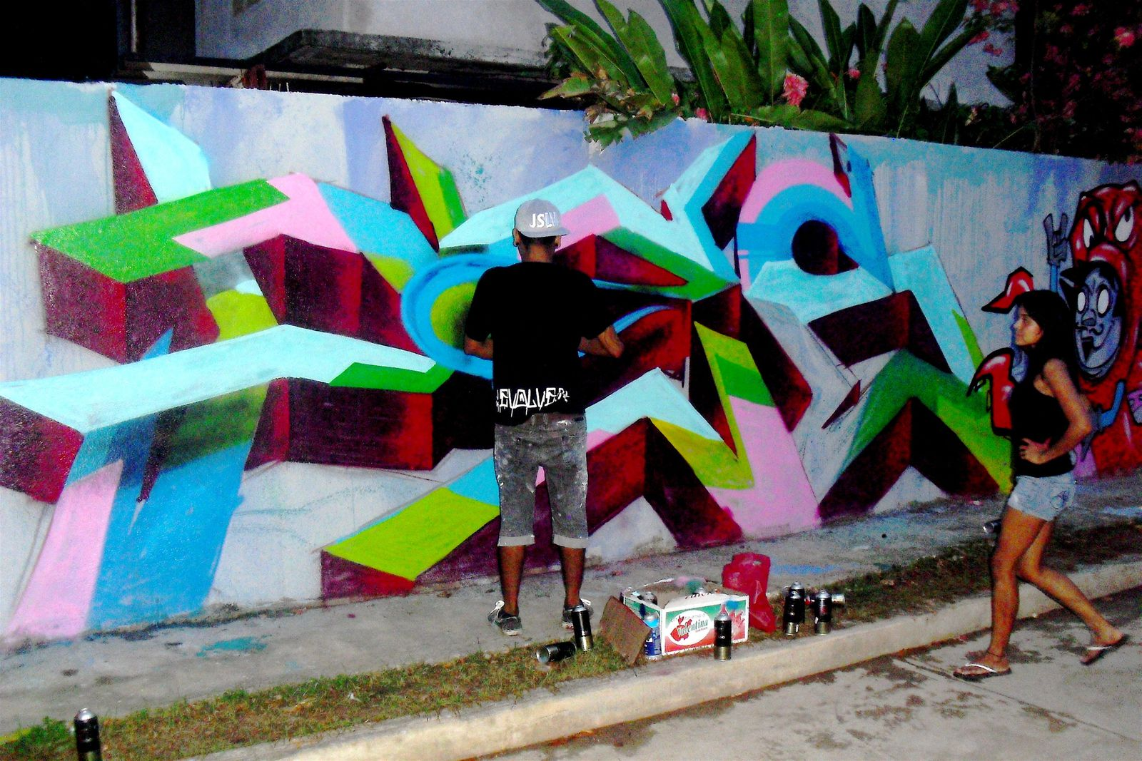 Illustrations-graffiti- performanceS pour le collectif mexicain REVOLVER