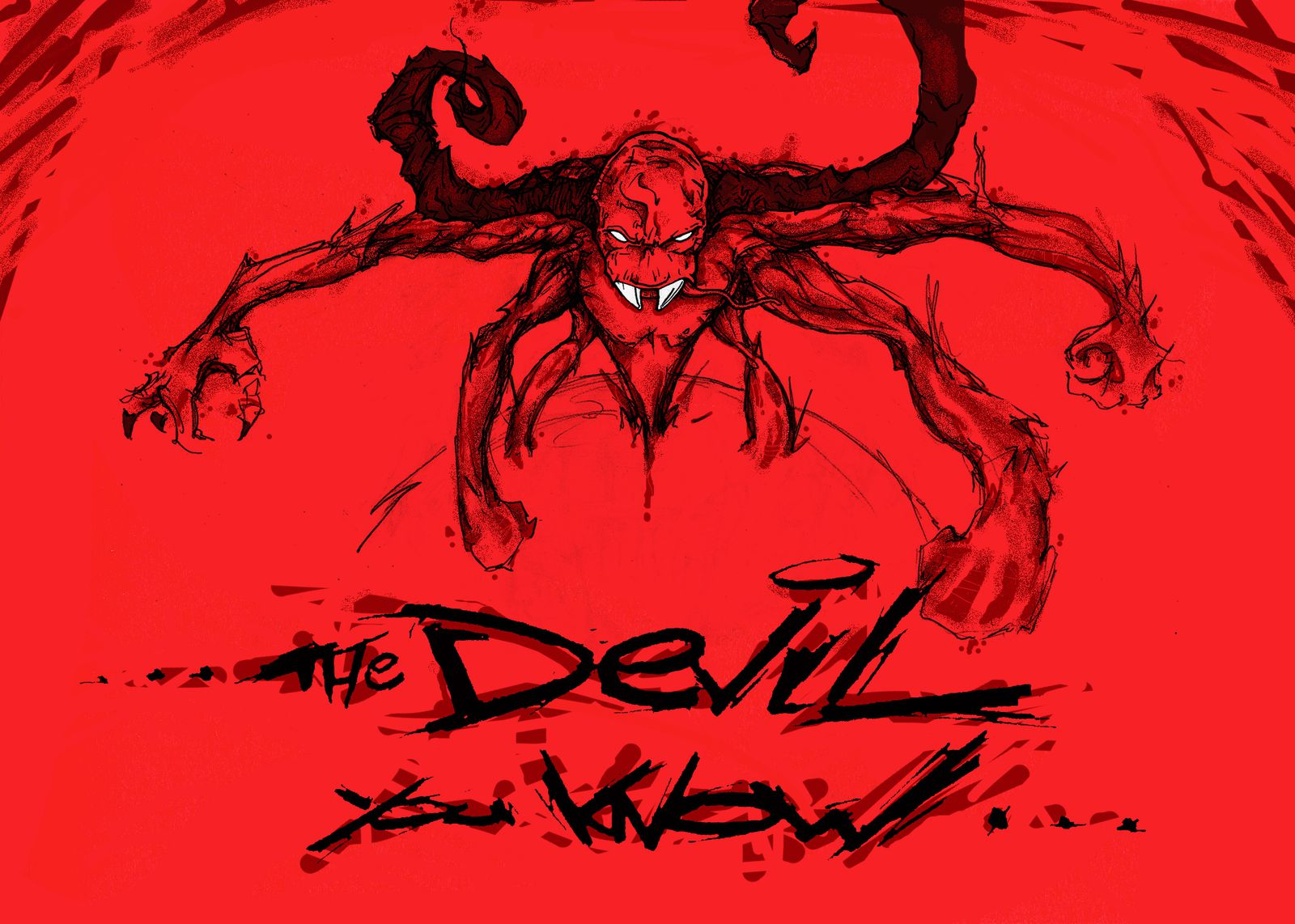 illustrations sur le thème du devil you know… (illustrations-graffiti-sérigraphie-mapping-rock progressif)