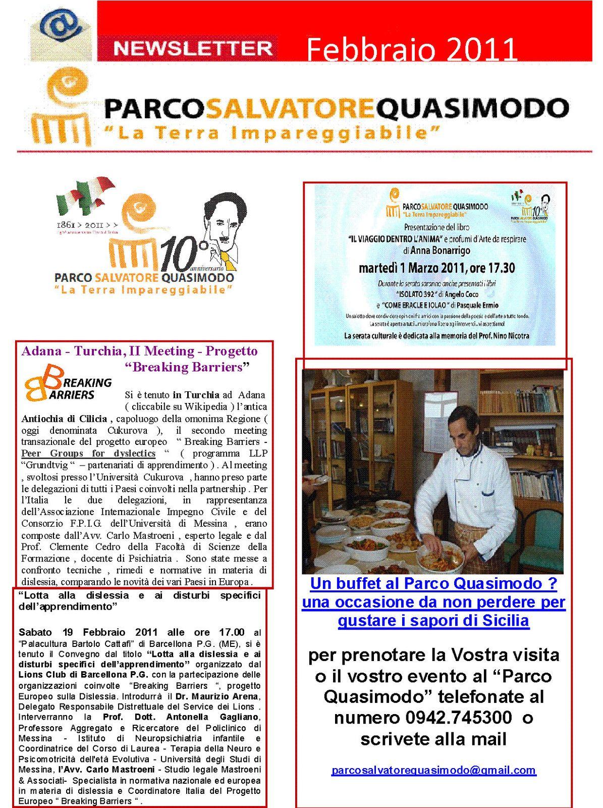 newsletter febbraio 2011