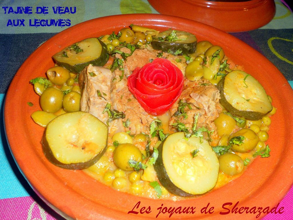 tajine de veau aux l gumes de printemps les joyaux de sherazade recette de cuisine test es. Black Bedroom Furniture Sets. Home Design Ideas