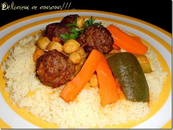couscous aux boulettes de kefta à la viande hachée
