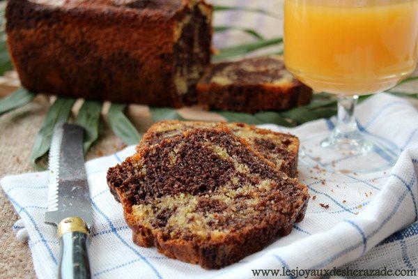 recette de cake marbré super moelleux et facile