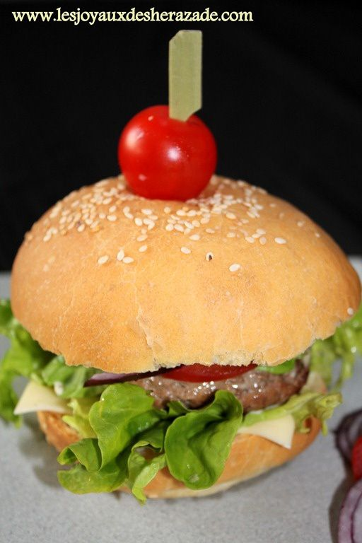 Pain hamburger maison les joyaux de sherazade - Recette hamburger maison ...