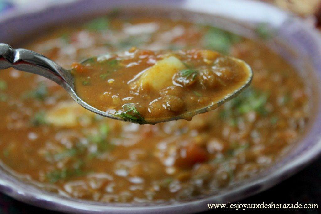 soupe aux lentilles - les joyaux de sherazade
