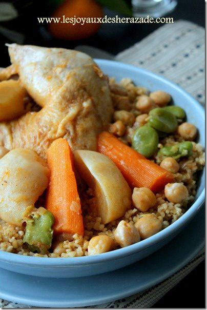 couscous au boulghoul et poulet