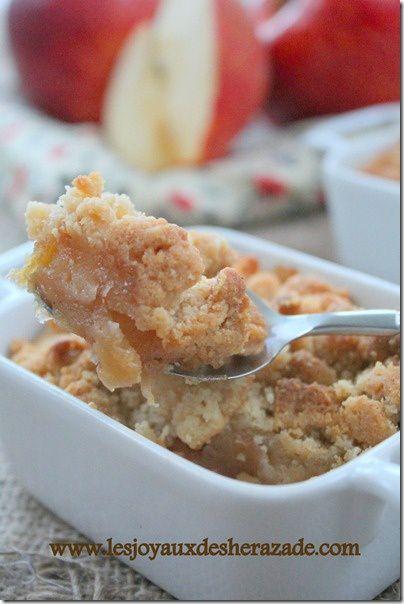recette de crumble aux pommes