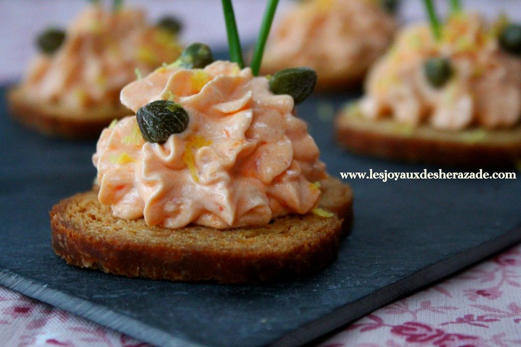 Canape mousse saumon fume for Canape saumon fume