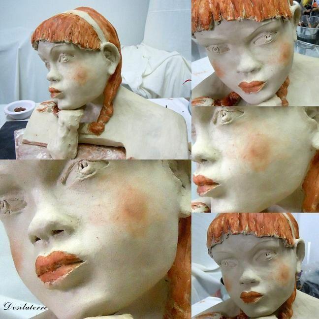 Sculpture Buste Pas à pas de Philaé.5