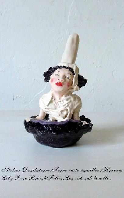 sculpture céramique Lily Rose