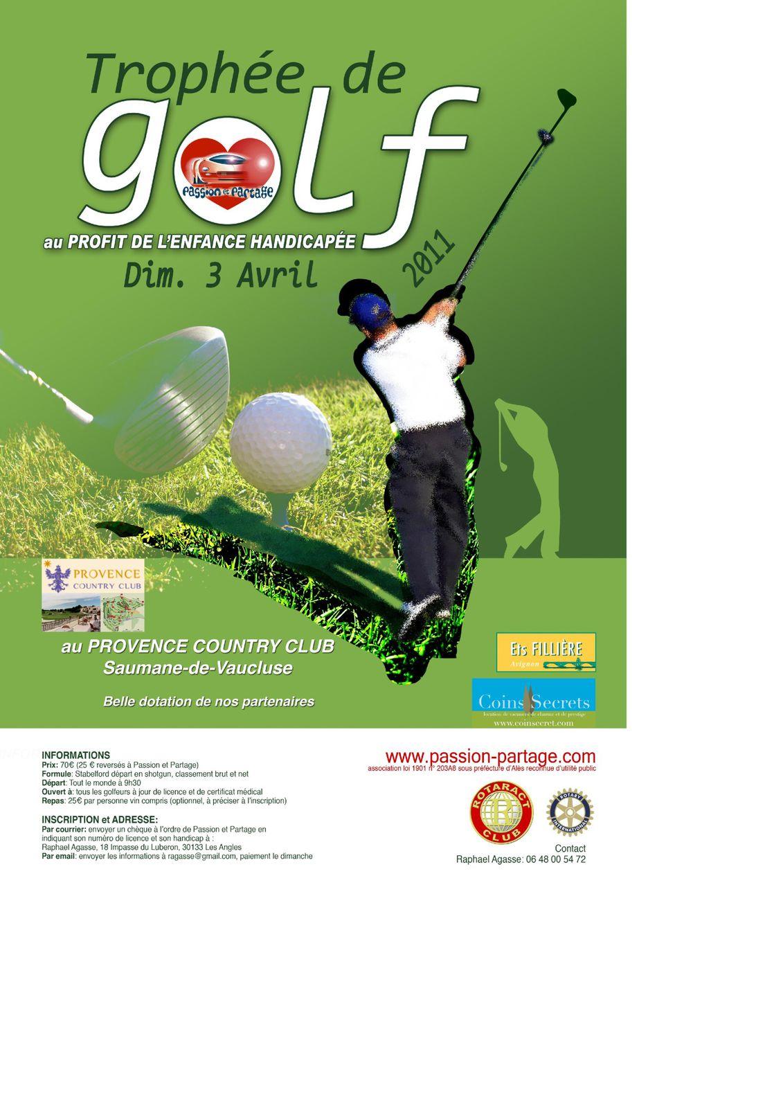 Compétition Passion & Partage Golf2011