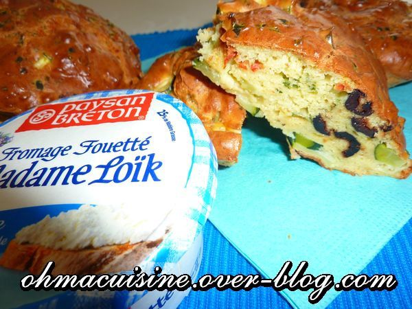 Cake courgette olive fromage fouetté