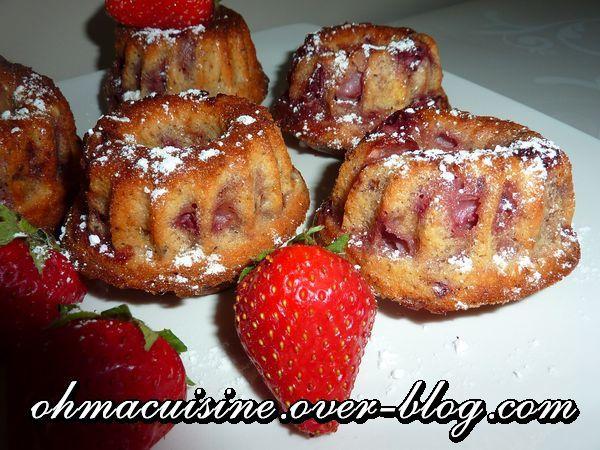Mini cakes fraises