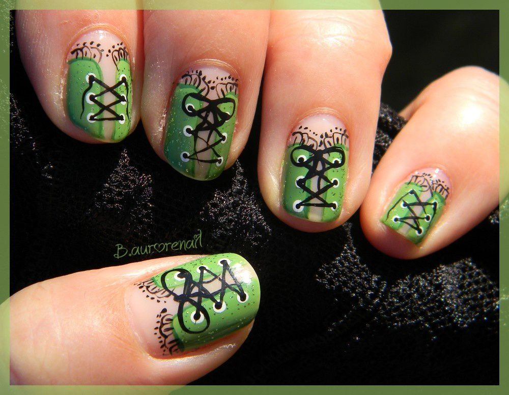 vers ongles verts