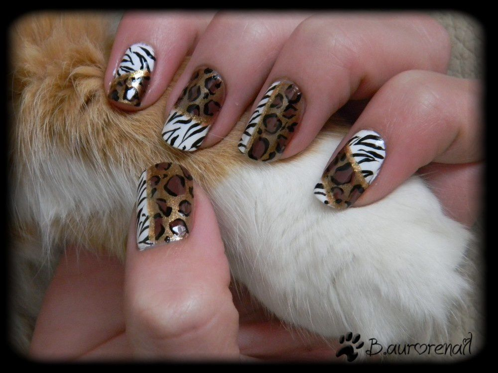 decoration ongles leopard