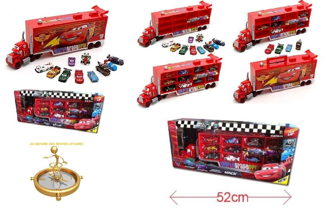 exclusivite disney pixar cars 2 camion mack lot 10 voitures au repaire des bonnes affaires. Black Bedroom Furniture Sets. Home Design Ideas