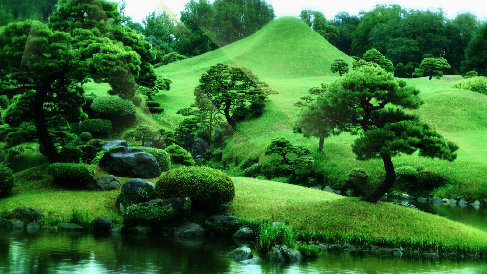 Scenery wallpaper fond d 39 ecran paysage zen for Fond wallpaper